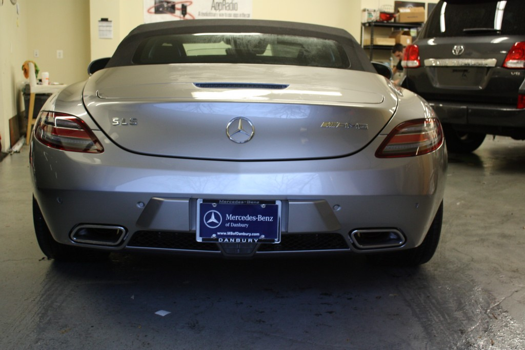 Rear K40 radar install Mercedes SLS AMG