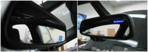 Escort 9500ci Display Installed Inside Rear View Mirror