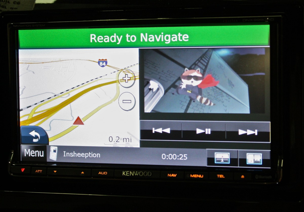 Kenwood Excelon DNX9990HD Split View Navigation