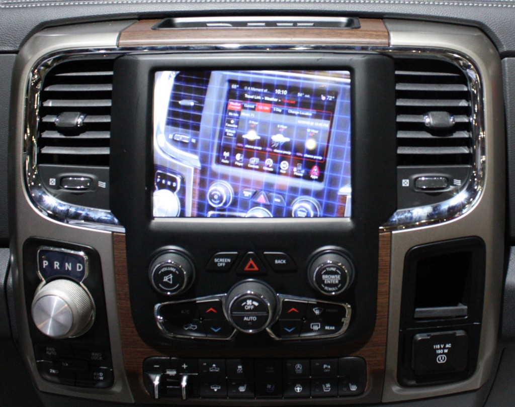 2012 Dodge Ram Navigation Control Screen