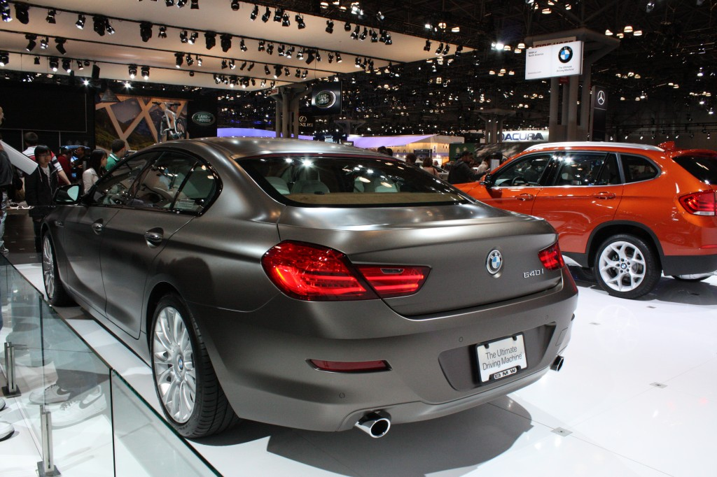 BMW 640i Frozen Paint Option Shown at New York Auto Show 2012