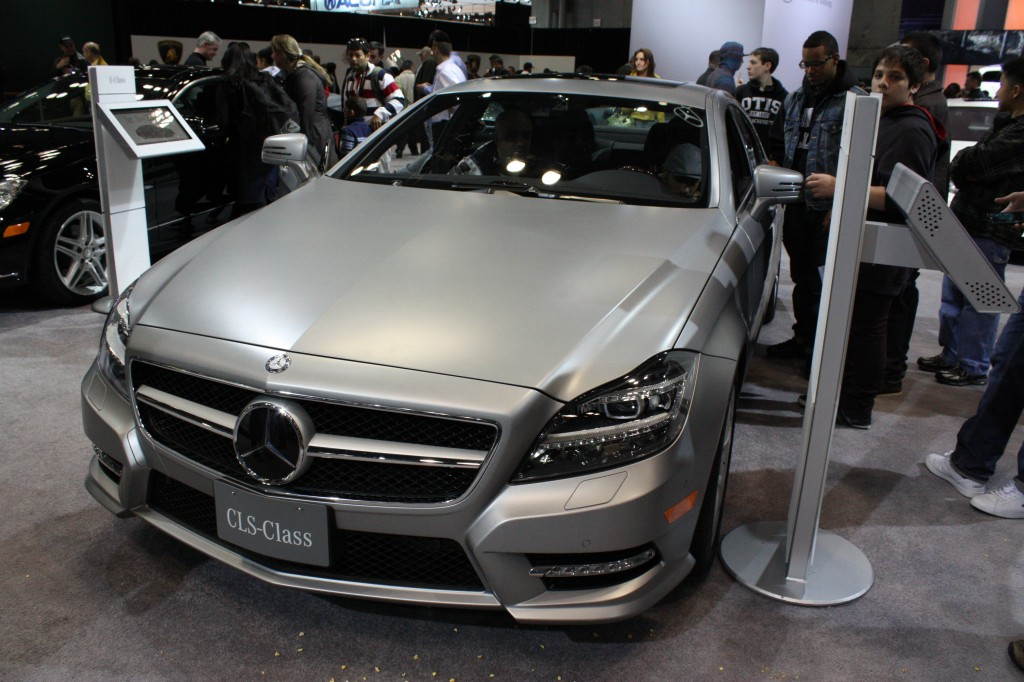 Mercedes CLS with Matte Paint at the New York Auto Show 2012