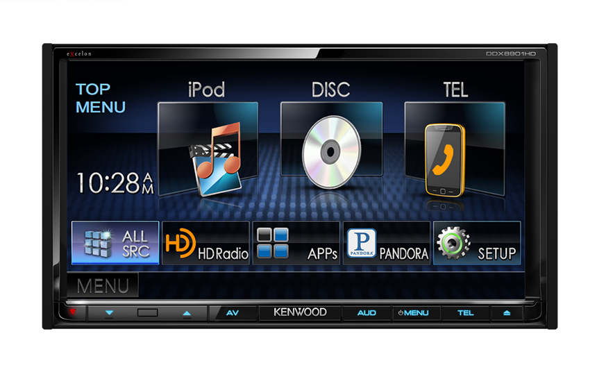 "Kenwood's Double Din 7"" Touch Screen with App Control feature"