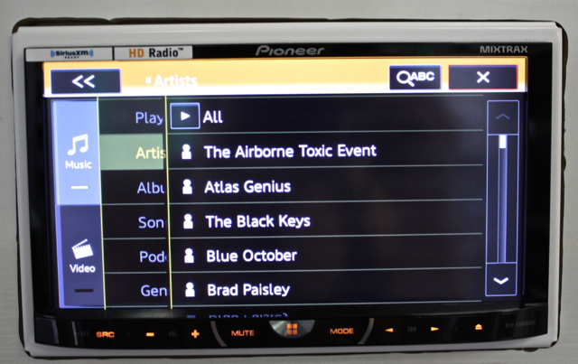 Pioneer AVH-X5600BHS is responsive in music search and other various functions