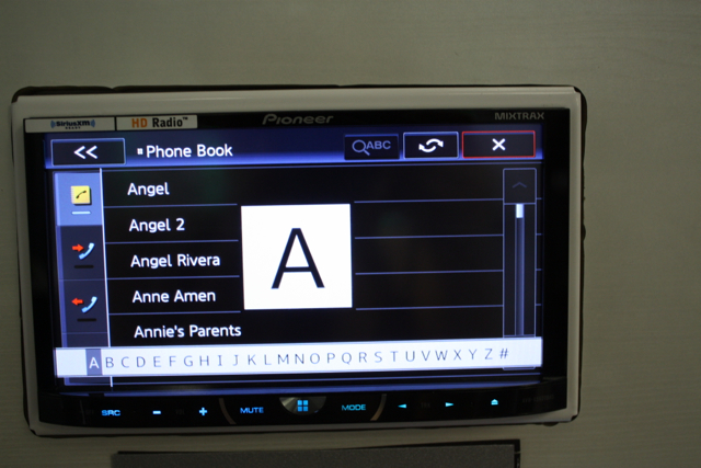 Pioneer AVH-X5600BHS Review Bluetooth Contact Menu