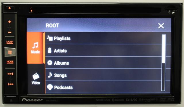 iPod Search AVIC-5000NEX