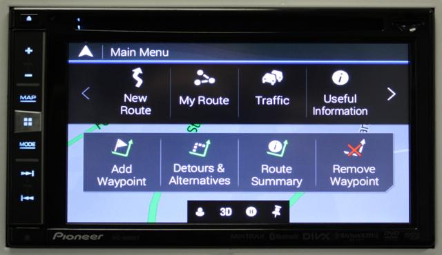 Navigation Menu AVIC-5000NEX