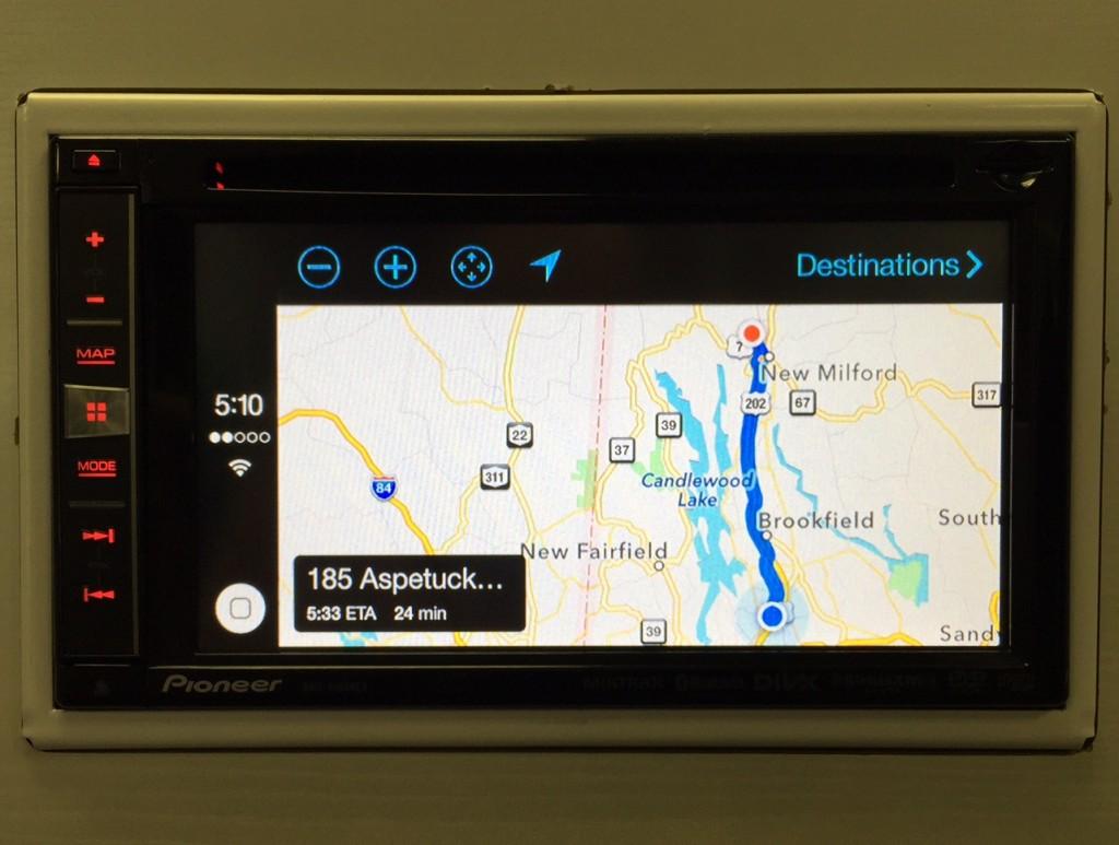 Pioneer CarPlay Maps