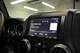 Jeep Wrangler Stereo Upgrade Double Din Installed