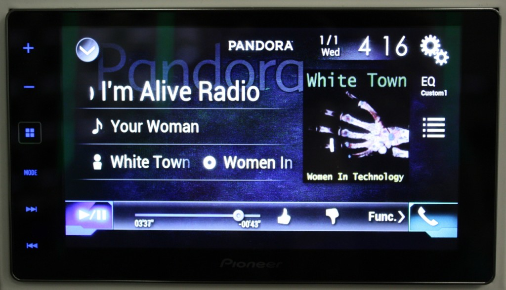 AppRadio 4 Review - Pandora works on NEX side