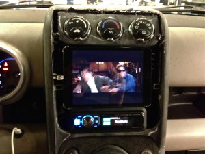 iPad car stereo installation in our Honda Element is a work in progress