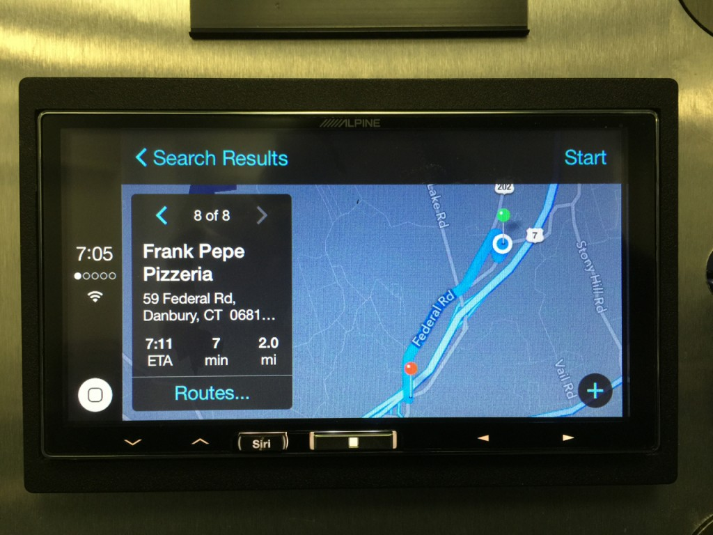 Alpine iLX-007 Review - Apple Maps Working Well