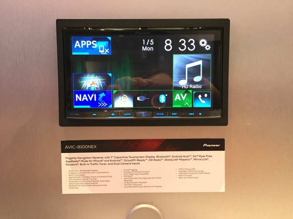 Pioneer Android Auto AVIC-8100NEX CES 2015