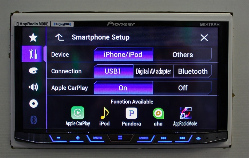 Best Double Din Head Unit 2015 - Apple CarPlay Smartphone Settings