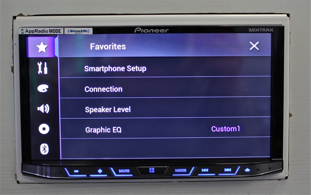 Best Double Din 2015 - AVH-4100NEX Favorites Menu