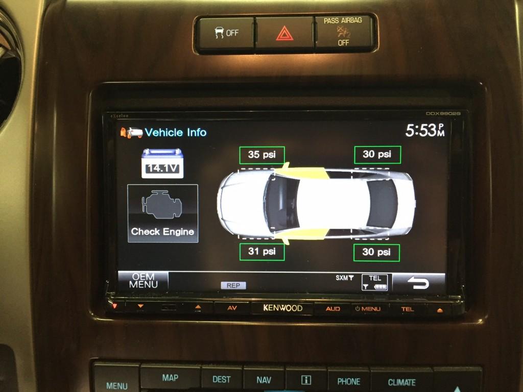 DDX9902S - Tire pressure monitor display 2012 F-150