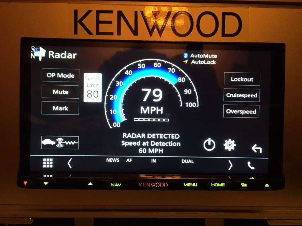 Kenwood DNX893S K40 Radar Integration