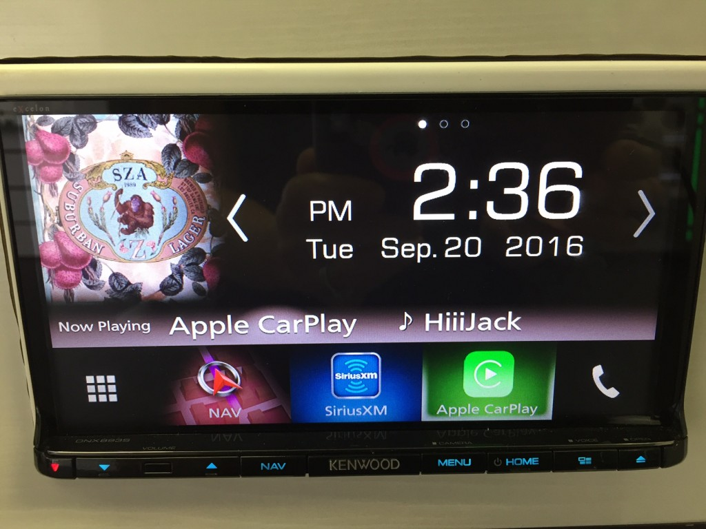 Best Double Din Navigation 2016 - Kenwood DNX893s home screen features big easy to see icons and text