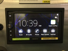 Sony XAV-AX100 Review - Home screen.