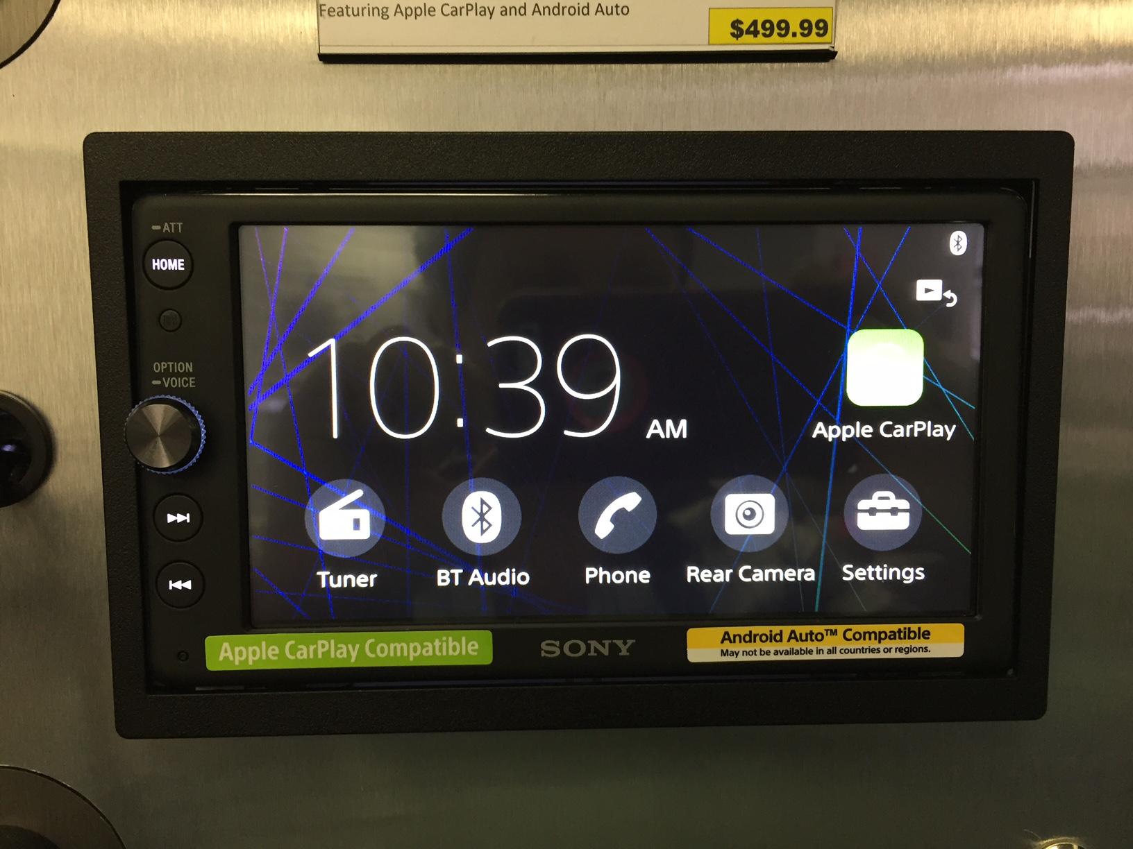 Sony XAV-AX100 Review - Home screen.