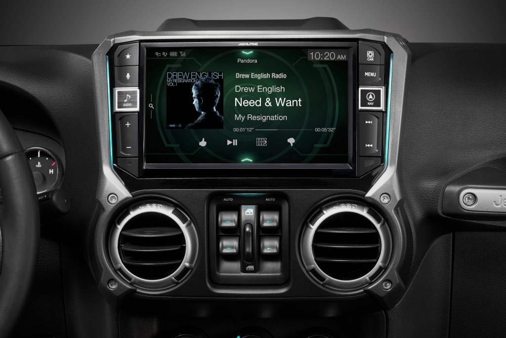 Alpine i209-WRA Jeep Wrangler Head Unit 2017