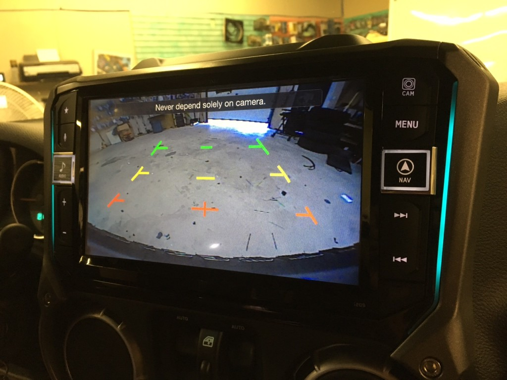 Alpine i209-WRA and Alpine third brake light camera view - installed at Sounds Incredible Mobile, Brookfield, CT.
