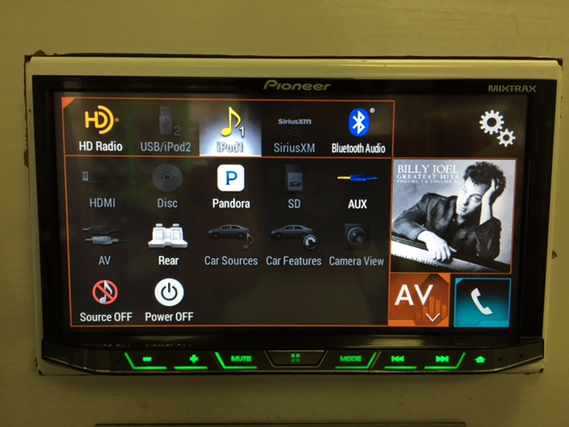 Pioneer AVH-4201NEX Home Screen - Best CarPlay Head Unit 2018