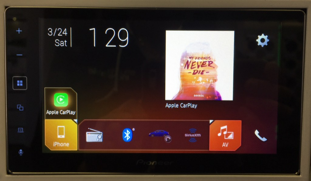 Pioneer MVH-1400NEX review home screen