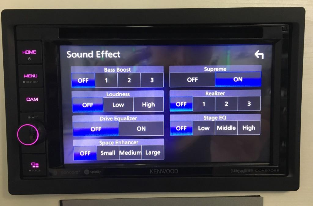 Best Apple CarPlay Stereo 2019 - Kenwood DDX5706s easy sound menu