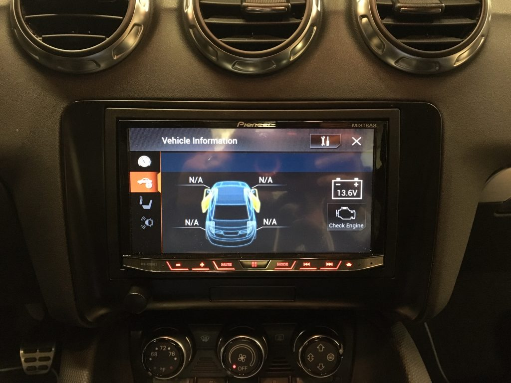 Stealth subwoofer install Audi TT