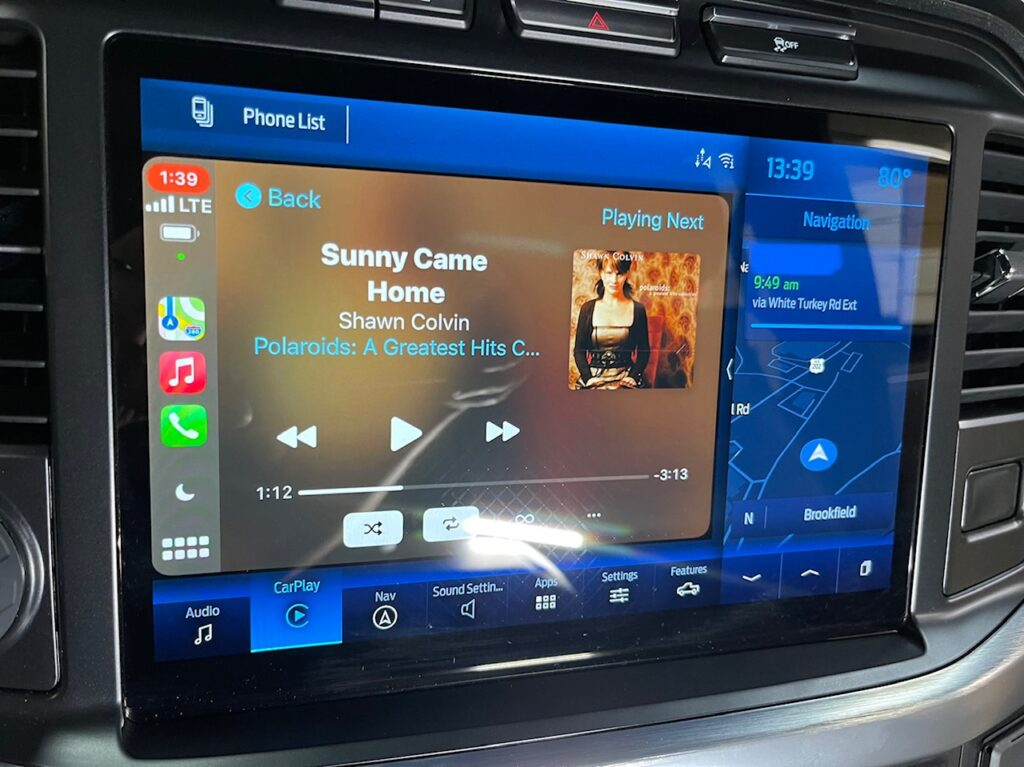 """2021 Ford F-150 stereo upgrade - 12"""" Infotainment with B & O stereo"""