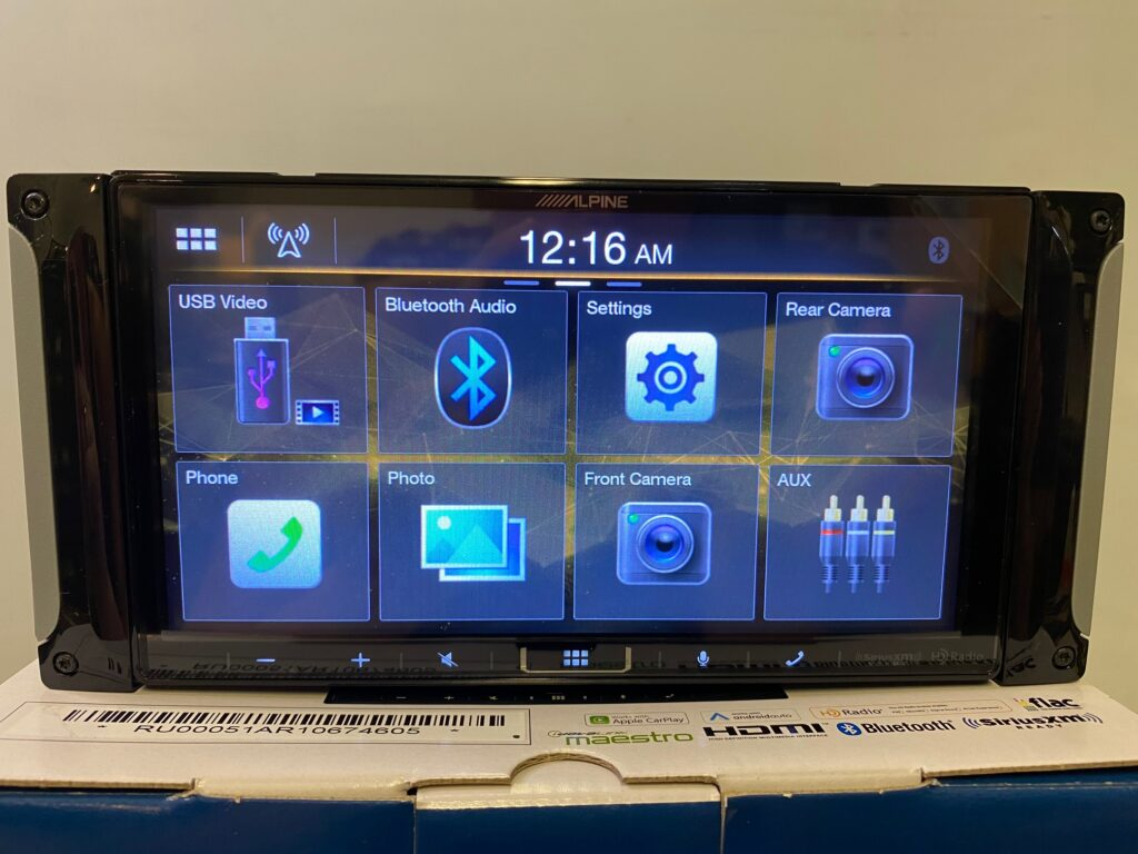 Alpine iLX-407 Review - Page 2 of the radio screen
