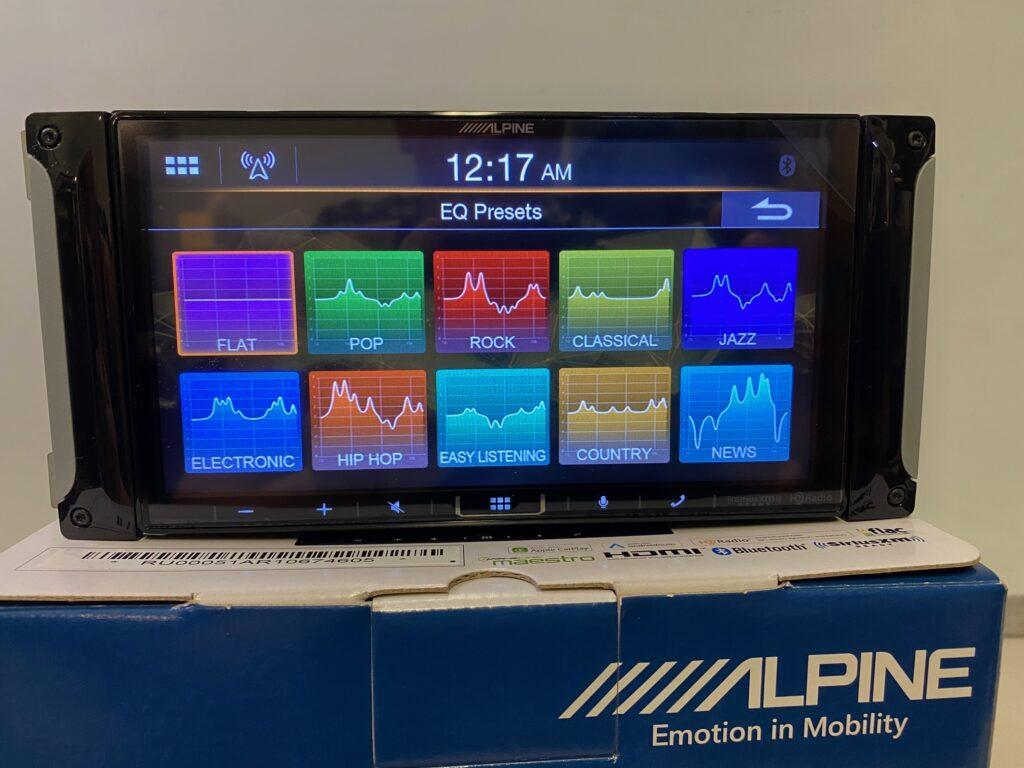 Alpine iLX-407 Review - Preset EQ curves