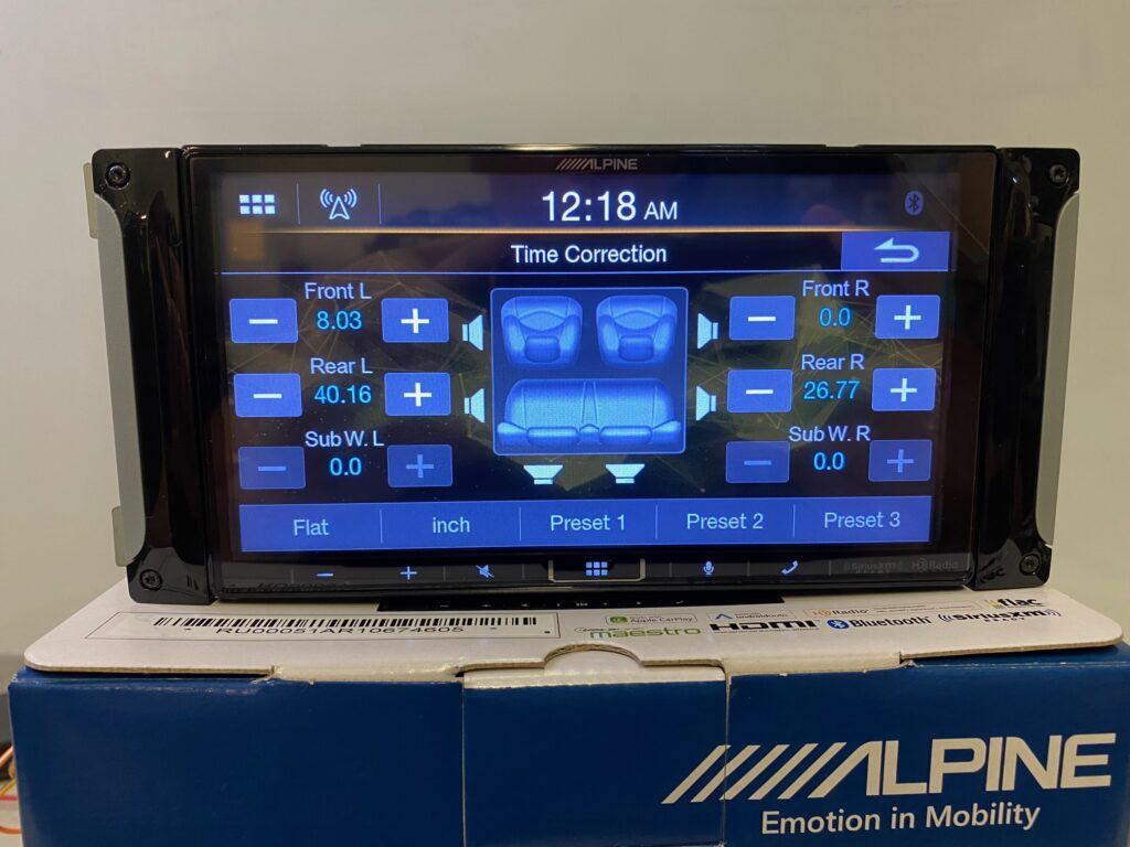 Alpine iLX-407 Review - Time alignment menu