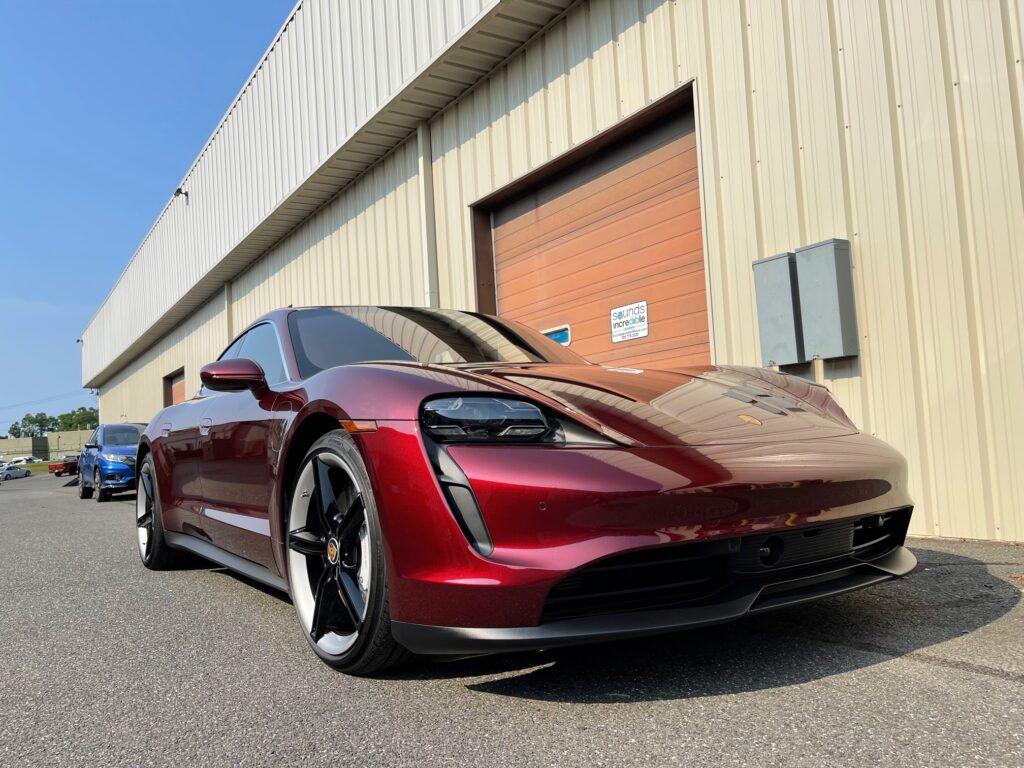 2021 Porsche Taycan 4s K40 plus Blackvue Installation