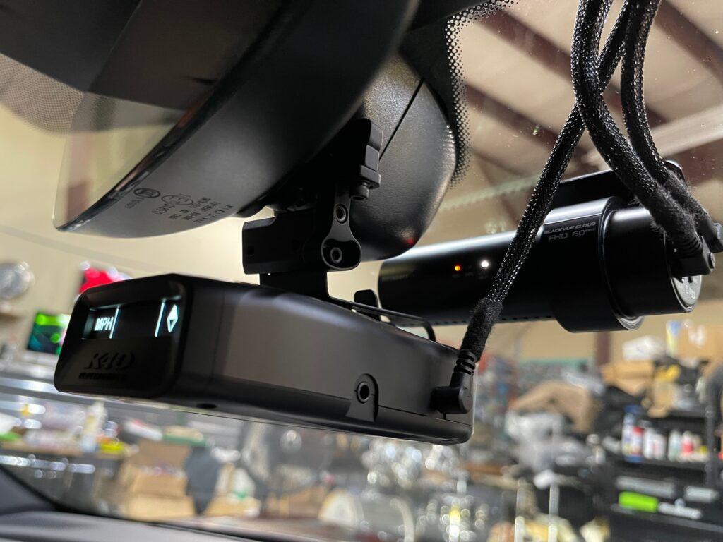 Porsche Taycan 4s Radar Detector with Blendmount