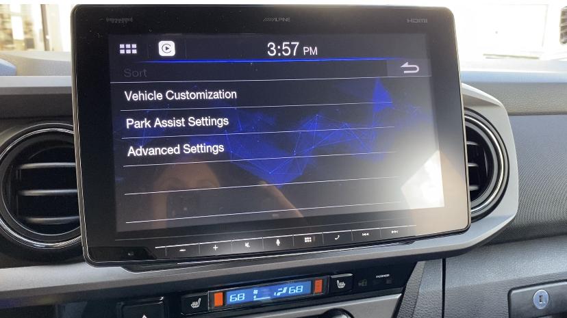 Alpine iLX-F411 vehicle settings retained Toyota Tacoma
